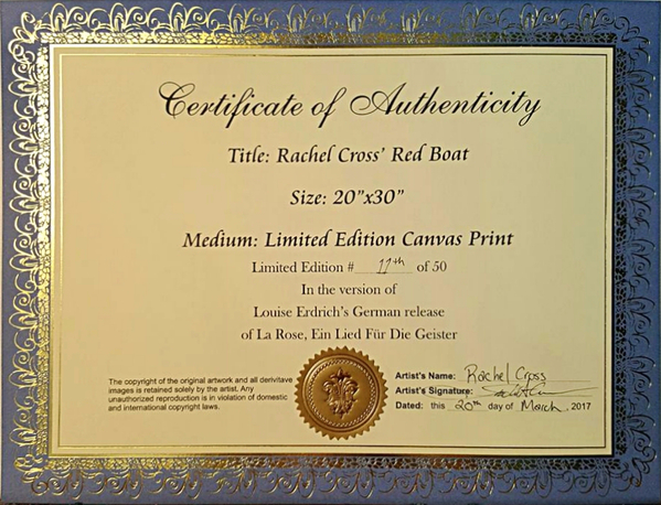 600w 0Certificate of Authenticity   Red Boat