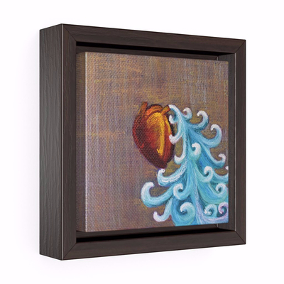 400w Heart Bleeds The Ocean Open Edition Art Print On Canvas by Rachel Cross