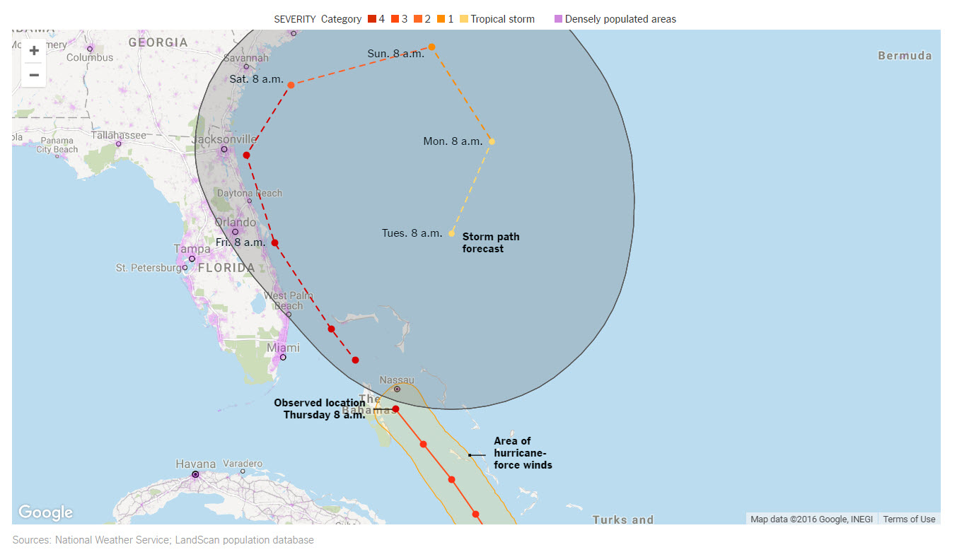 Hurricane Mathew Map from Google   2016 10 06 16 26 04